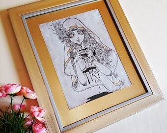 PRINT- Holy - Ink drawing - Special Edition FRAMED PRINT