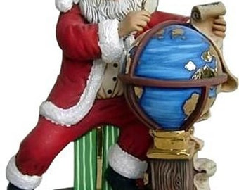 "D.H. Santa with globe ready to paint 11""x 9"""