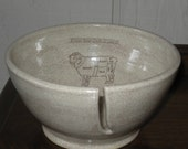 """Discounted Ceramic Yarn Bowl """"Know Your Cuts of Lamb"""" charming"""