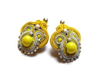 Lidia - small but eye-catching and cute soutache earrings, soutache jewelry