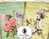 75% OFF SALE SHABBY Flowers No 03 Aceo Digital Collage Sheet Digital Shabby chic Digital Scrapbooking