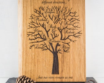 Oak Family Tree - Personalised Family Tree - Family Tree Art - Family Tree Chart - Family Gifts - Gift For Grandmother - Gift For Mum - Oak
