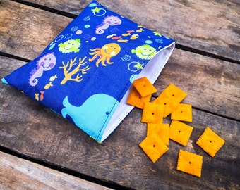 Set of 3 Reusable Snack Bags - choose from over 100 fabrics