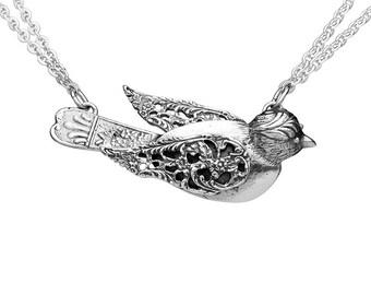 "Spoon Necklace: ""Bird"" by Silver Spoon Jewelry"