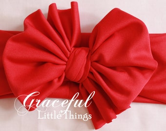 SALE - Solid Color Bow Headwrap