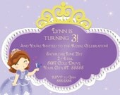 Princess Sofia Birthday Party Invitation