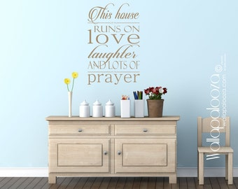House Rules Wall Decal - Prayer wall decal - Family Wall Decal - House Rules Wall Decor - In This House Wall Quote - Wall Art - Wall Sticker