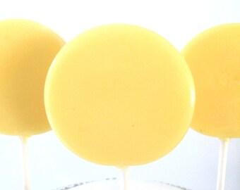 Lemon Sugar Cookie Gourmet Lollipops - Pick Your Size - Party Favors - Yellow Wedding Favors - Lollipops - Lemon Theme