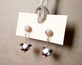 I Mustache You for Poro Snacks earrings