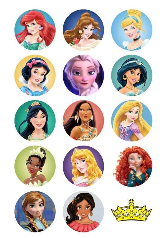 This is a graphic of Shocking Disney Princess Cupcake Toppers Free Printable