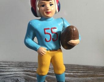 Vintage Wilton Cake Topper Football Player