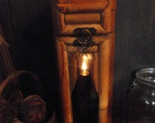 """Rustic Bamboo Wooden candle light lantern 14 """""""