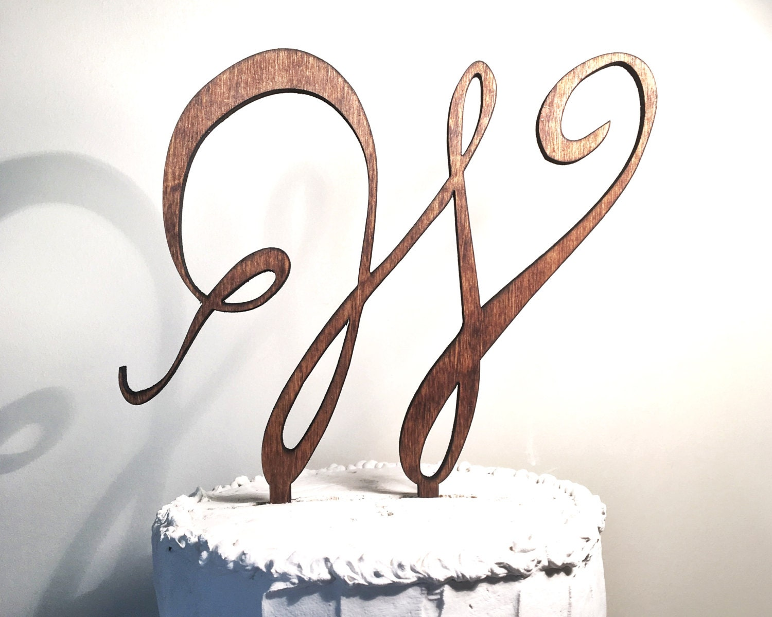How To Make A Wooden Monogram Cake Topper