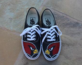 Hand Painted Shoes - AZ Cardinals
