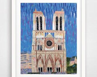 PRINT - Title: Notre Dame De Paris