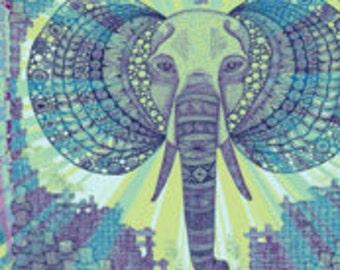 "Elephant Zen Okovango 18"" x 21"""