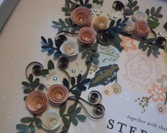 Framed Wedding Invitation Keepsake Gift With Matching Enclosure Card