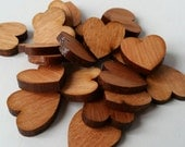 Pack of 5 mini wooden hearts, mahogany wooden hearts, 1.5cm, wood, wooden, mahogany, jewellery supplies, crafting supplies