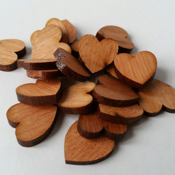 Pack of 5 small wooden hearts wedding heart wooden hearts for Wooden hearts for crafts