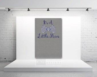 Little Man Backdrop - Chevron Tie - Printable Party Decorations -  Labels - Bow Tie Party