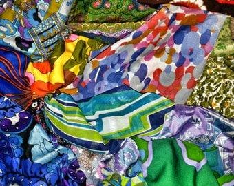 VINTAGE FABRIC DESTASH - 1kg or 500g Mixed Vintage Fabric - Fabric Off Cuts - Patchwork Fabric - Vintage Scrap Fabric - Vintage Remnants