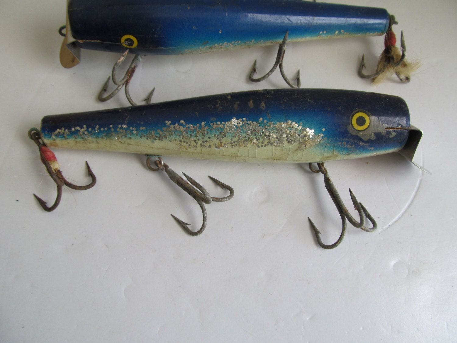 Antique deep sea fishing lures wooden antique lures hand for Antique wooden fishing lures