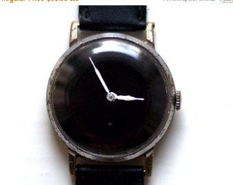 "Soviet watch ,Russian watch , Mens watch ,minimal watch , minimalist watch,Mechanical watch ,black white watch,classic watch ""Victory"""