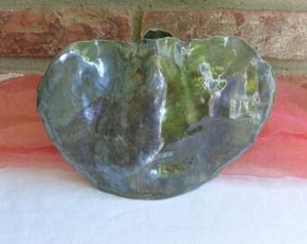 Vintage Decor Vase  -  Black, Hand Made, Artist K - 1979 - Stunning!