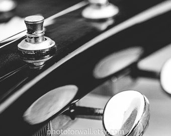 Large canvas art Dobro Electric guitar, black and white photography, music art, music player, rock and roll art, music room decor, large Art