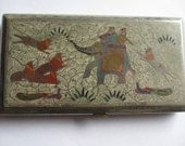 Vintage Persian Indian  Cigarette Case