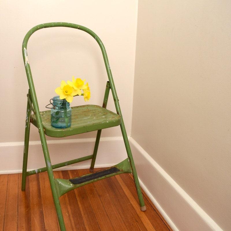 Green Kitchen Stools: Cosco Shabby Chic Kitchen Stool Green Step Stool