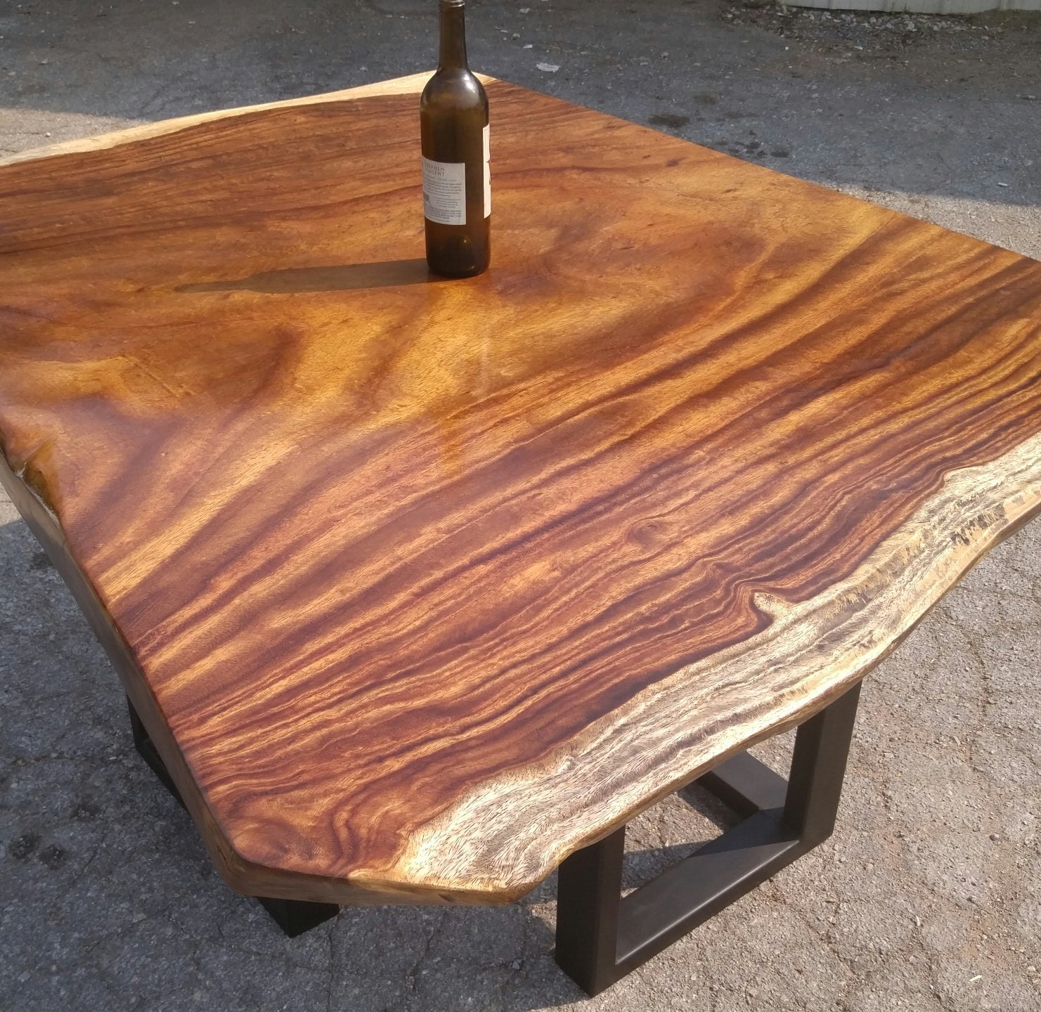 The hot n spicy exotic square shaped acacia slab tables for 3 inch thick wood slab