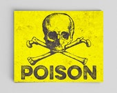 Skull and Crossbones Poison Science Poster Science Art Forensics Biochemistry Science Teacher Gifts for Teachers Science Vintage Anatomy Fun