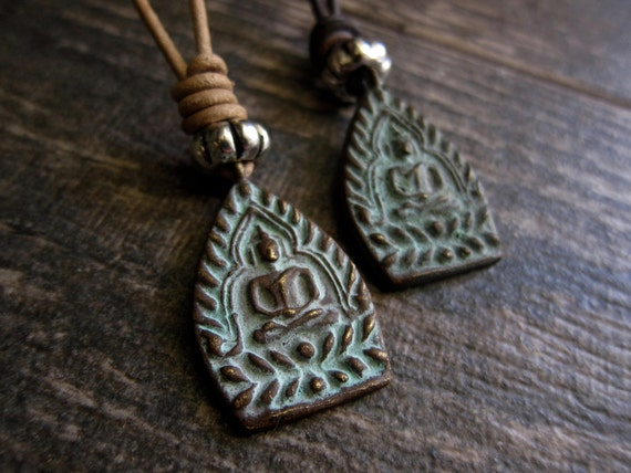 Men's Leather Buddha Necklace