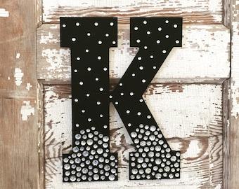 "13"" Decorative Black Semi Bling Sparkle Wall Letters"
