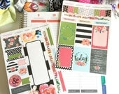 Fearless Sticker Set, Bible Stickers, Planner Stickers, Stripes, Foral, Brave