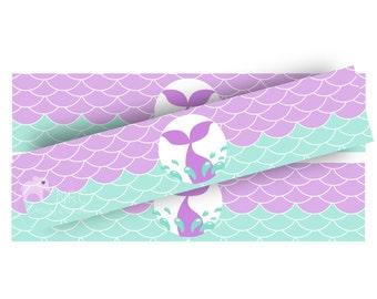Mermaid Party | Mermaid Water Bottle Labels | Mermaid Printables | Mermaid Party Decorations | Purple | NRCDesignStudio