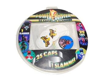 Power Rangers, Power Blister, Power Ranger Pogs, Power Ranger Slammer, NIP Power Ranger, 25 Caps, Slammer, Mighty Morphin Toy, Vintage Game