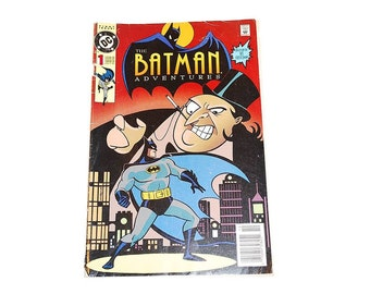 Vintage Comic Book, The Batman Adventures, DC Comics, Issue #1, Retro Comic Book, Graphic Novel, The Penguin, Super Hero, The Joker