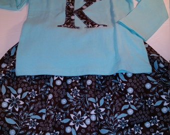 Toddler girls skirt set baby girls outfit skirt with matching shirt size 2T