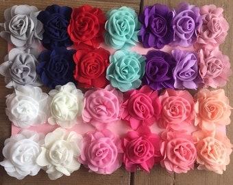 Chiffon Rose Flower Clip
