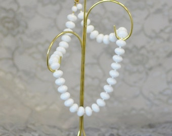 Whites Oval Glass Bead Princess Necklace