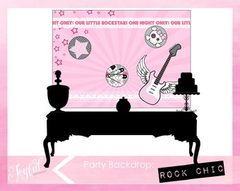 Rock Star Birthday Party Backdrop
