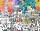 Manchester Skyline - A Unique and Vibrant Print