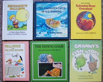 1970s Parents Magazine Press Book Collection - Benjamin's Balloon, Tinker Tales, Here Comes Tagalong, Sand Cake - Childrens Book Lot