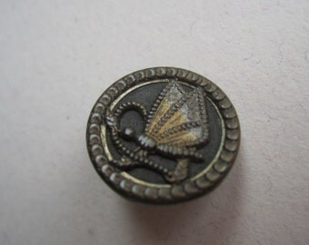 Small Vintage Metal Butterfly Button