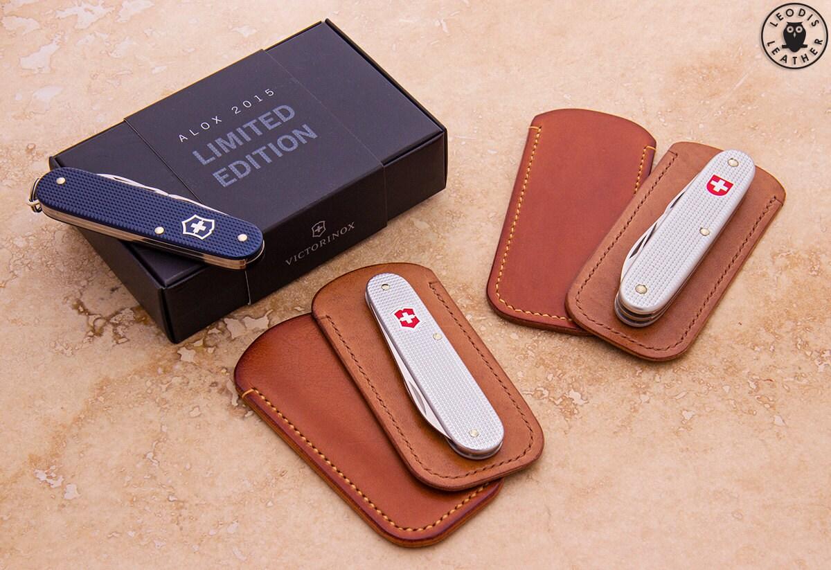 Leather Slip Case For Alox Swiss Army Knife Medium Size