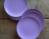 Vintage Plates Texas Ware Mid Century Melmac Melamine Home & Living Kitchen Dining Serving Purple