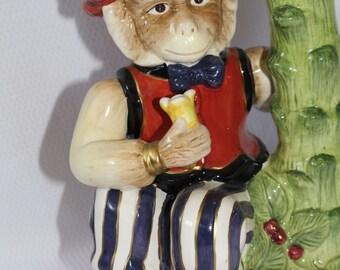 Kaldun & Bogle Monkey Candlestick Holder Vintage