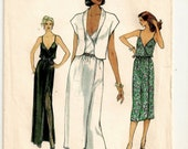 "A Blouson Bodice, Spaghetti Strap Front Wrap Dress and Shawl Collar Waist-Length Jacket Pattern for Women: Size 10 Bust 32-1/2"" • Vogue 7334"
